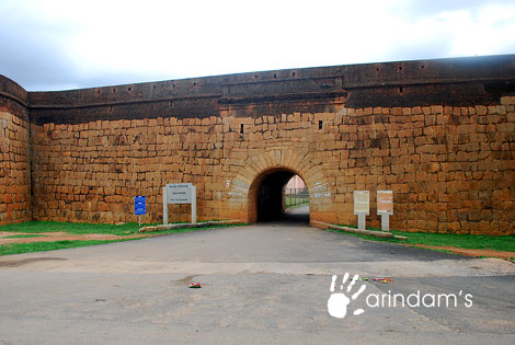 Main entrance of Devanahalli Fort, Bangalore Rural, Karnataka.