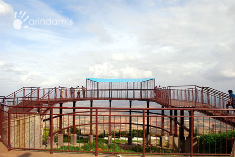 Newly made view point stand beside Hotel Mayura Pine Top - Nandi Hills.