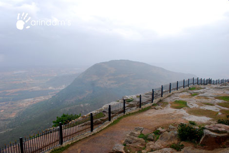 Tipu's Drop - the famous place from where Tippu Sultan threw his condemned prisoners to death - Nandi Hills (Nandidurg), Chikkaballapur.